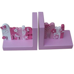 Painted Name Bookends (Girl)