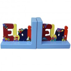 Painted Name Bookends (Boy)