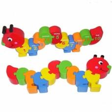 Chunky Caterpillar Number Jigsaw