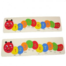 Caterpillar Number Tray Puzzle