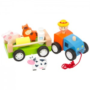 Tractor & Trailer with Farm Animals