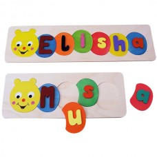 Caterpillar Name Tray Puzzle