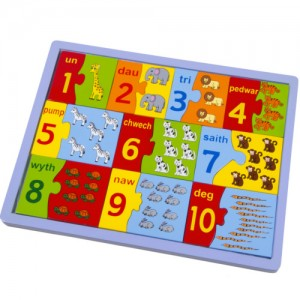 Number Tray Jigsaw (Welsh)