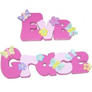 Pink Freestanding Names