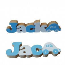 Blue & White Freestanding Names