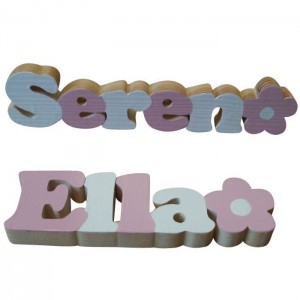 Pink & White Freestanding Names