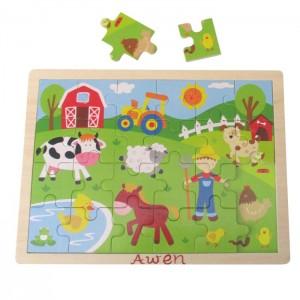 Wooden Tray Puzzle - Farm