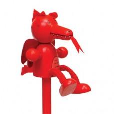 Red Dragon Pencil & Sharpener