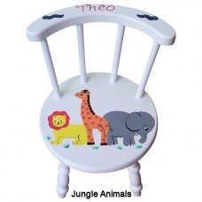 Child's Stick Back Chair (White)