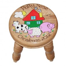 Child's Oak Stool (Girl)