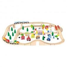 Large 90 Piece Train Set