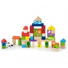 Wooden Building Blocks - Farm