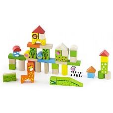 Wooden Building Blocks - Zoo