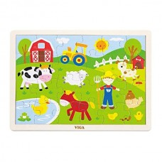 Wooden Tray Puzzle - Farm