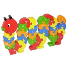 Caterpillar Welsh Alphabet Jigsaw