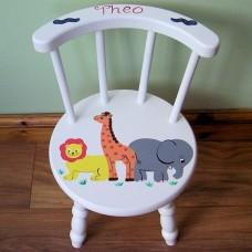 Child's Stick Back Chair (White)