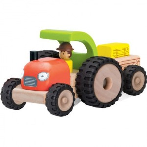 Wooden Tractor and Trailer
